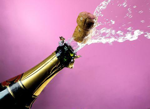 Bottle, Glass bottle, Purple, Magenta, Pink, Liquid, Drink, Violet, Alcoholic beverage, Lavender,