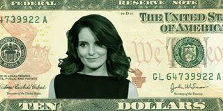 Tina Fey on the $10 bill