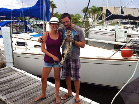 Watercraft, Recreation, Boat, Hat, Outdoor recreation, Deck, Naval architecture, Vacation, Travel, Slipper,