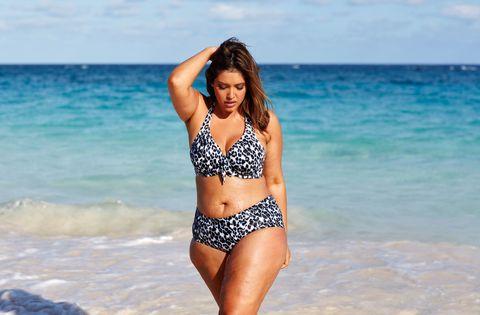 Clothing, Body of water, Blue, Fun, Brassiere, Shoulder, Swimwear, Photograph, Swimsuit top, Swimsuit bottom,