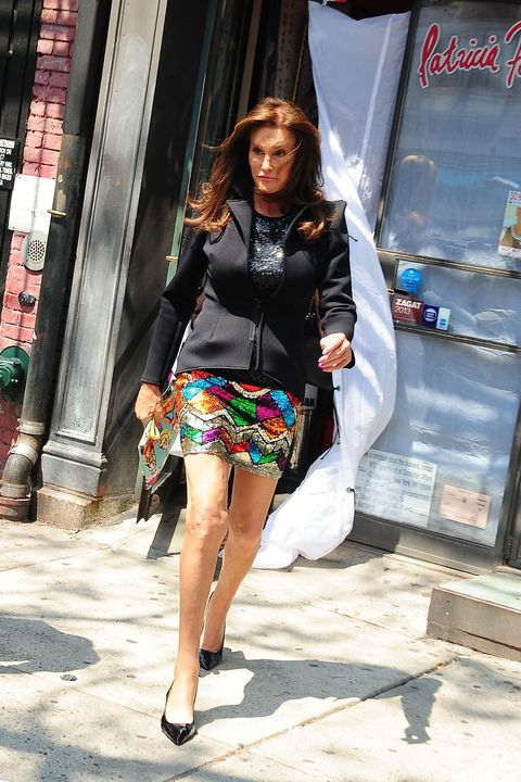 NEW YORK, NY - JUNE 30:  Caitlyn Jenner is seen coming out of  Patricia Field store in New York City on June 30, 2015 in New York City.  (Photo by Raymond Hall/GC Images)