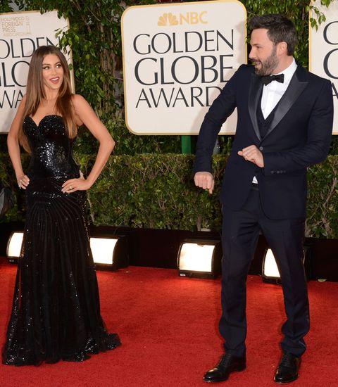 Sofia Vergara and Ben Affleck at the Golden Globes