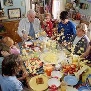 Cuisine, Dishware, Meal, Table, Food, Furniture, Tableware, Dish, Shelf, Sharing,