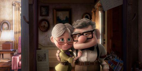 Glasses, Animation, Interaction, Animated cartoon, Love, Toy, Fiction, Fictional character, Hug, Figurine,