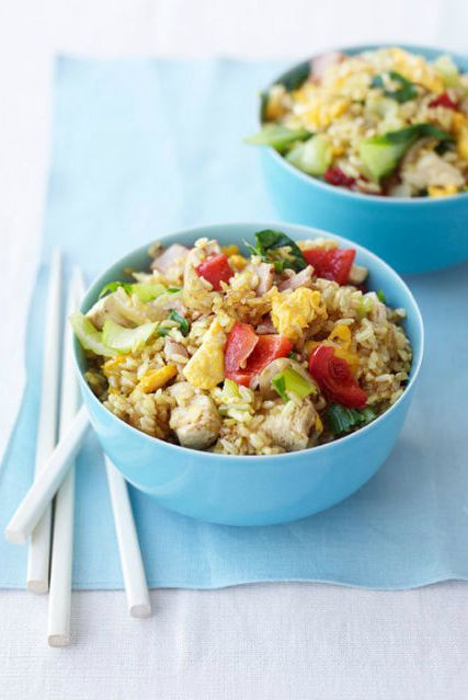 Food, Cuisine, Rice, Dish, Recipe, Meal, Staple food, Yeung chow fried rice, Spiced rice, Ingredient,