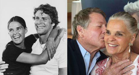 """Ryan O'Neal And Ali MacGraw Reignite Their Chemistry For Broadway's New """"Love Letters"""" Play"""