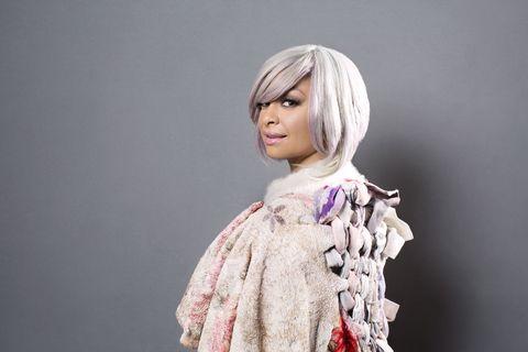 Textile, Lavender, Street fashion, Toy, Bangs, Wig, Embellishment, Bob cut, Doll, Makeover,
