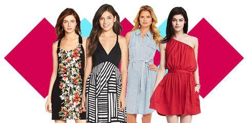 Clothing, Dress, People, Shoulder, Standing, One-piece garment, Formal wear, Pattern, Waist, Style,