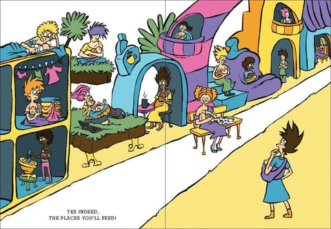 Purple, Cartoon, Parallel, Violet, Illustration, Animation, Fiction, Arch, Fictional character, Graphics,