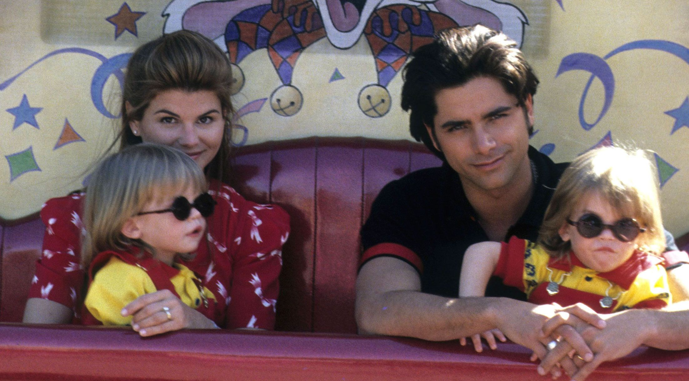 John Stamos d Adorable Picture of Alex and Nicky on the Set