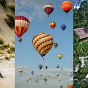 Nature, Mode of transport, Blue, Fun, Hot air ballooning, Daytime, Transport, Recreation, Natural environment, Tourism,