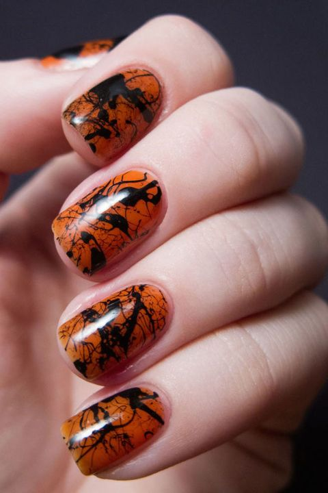 Awesome Chalkboard Nails Halloween