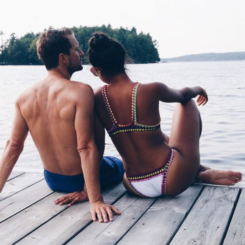 People in nature, Summer, Back, Barechested, Interaction, Muscle, Barefoot, Vacation, Undergarment, Abdomen,