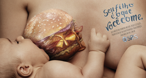"""New Pediactric Campaign Warns Pregnant Moms That """"Child Is What You Eat"""""""