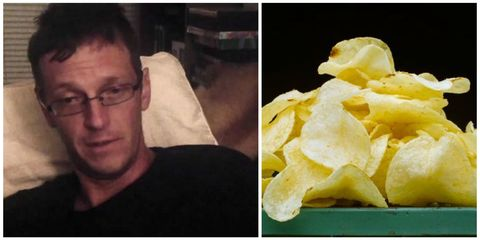 Man gets drunk from chips