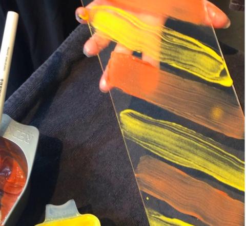 Yellow, Orange, Paint, Artist, Art paint, Painting, Visual arts, Hot sauce, Condiment, Rob roy,
