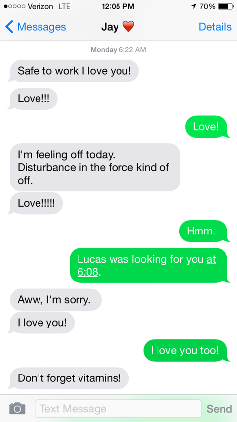 My Husband and I Text More Than We Talk – and That's OK