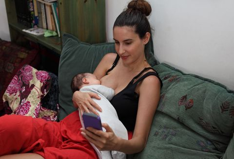 Breastfeeding while texting