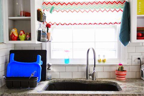 Room, Green, Interior design, Plumbing fixture, Interior design, Floor, Tap, Home, Sink, Plumbing,