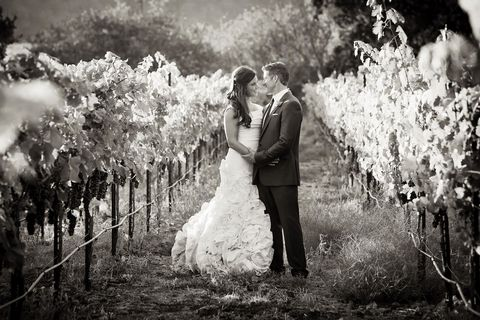 Dress, Trousers, Bridal clothing, Photograph, White, Bride, Happy, Suit, People in nature, Wedding dress,