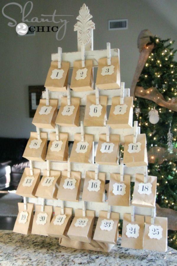 50 Advent Calendars You Can Make Yourself - How to DIY A Christmas Advent Calendar
