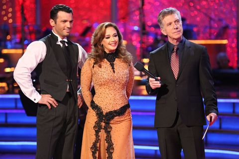 Tony Dovolani and Leah Remini on Dancing with the Stars