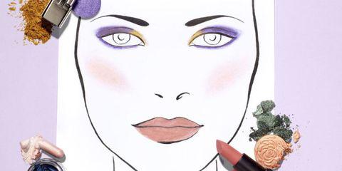 Cheek, Forehead, Eyebrow, Eyelash, Purple, Violet, Iris, Organ, Art, Paint,