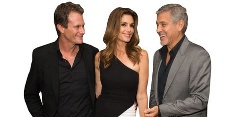 George Clooney, Cindy Crawford, and Randy Gerber