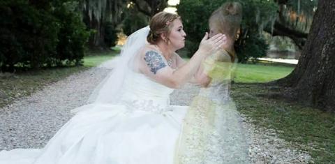 Clothing, Dress, Photograph, Bridal clothing, Wedding dress, Gown, Formal wear, Bride, Bridal veil, Veil,