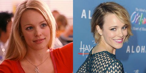 The cast of Mean Girls, then and now