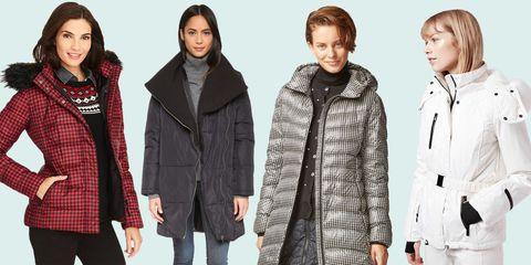 Clothing, Winter, Sleeve, Jacket, Human body, Pattern, Collar, Textile, Standing, Coat,