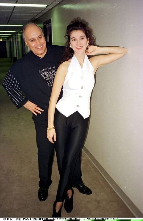 Celine Dion and Rene Angelil in Los Angeles in 1990