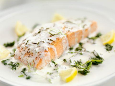 Food, Cuisine, Ingredient, Dish, Dishware, Seafood, Plate, Garnish, Fish, Recipe,