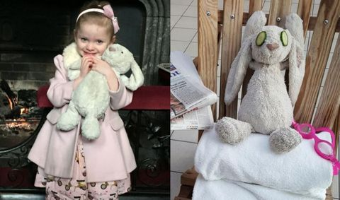 Little Girl Leaves Her  Stuffed Bunny At Hotel—It Goes On The Adventure Of A Lifetime