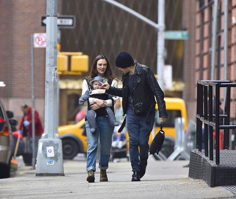 Road, Trousers, Jacket, Jeans, Street, Outerwear, Denim, Street fashion, T-shirt, Urban area,
