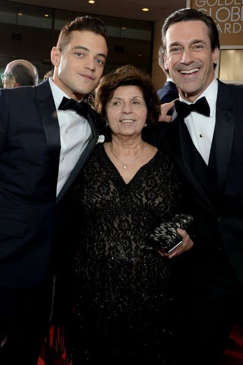 25 Celebs On The Red Carpet With Their Moms - Rami Malek
