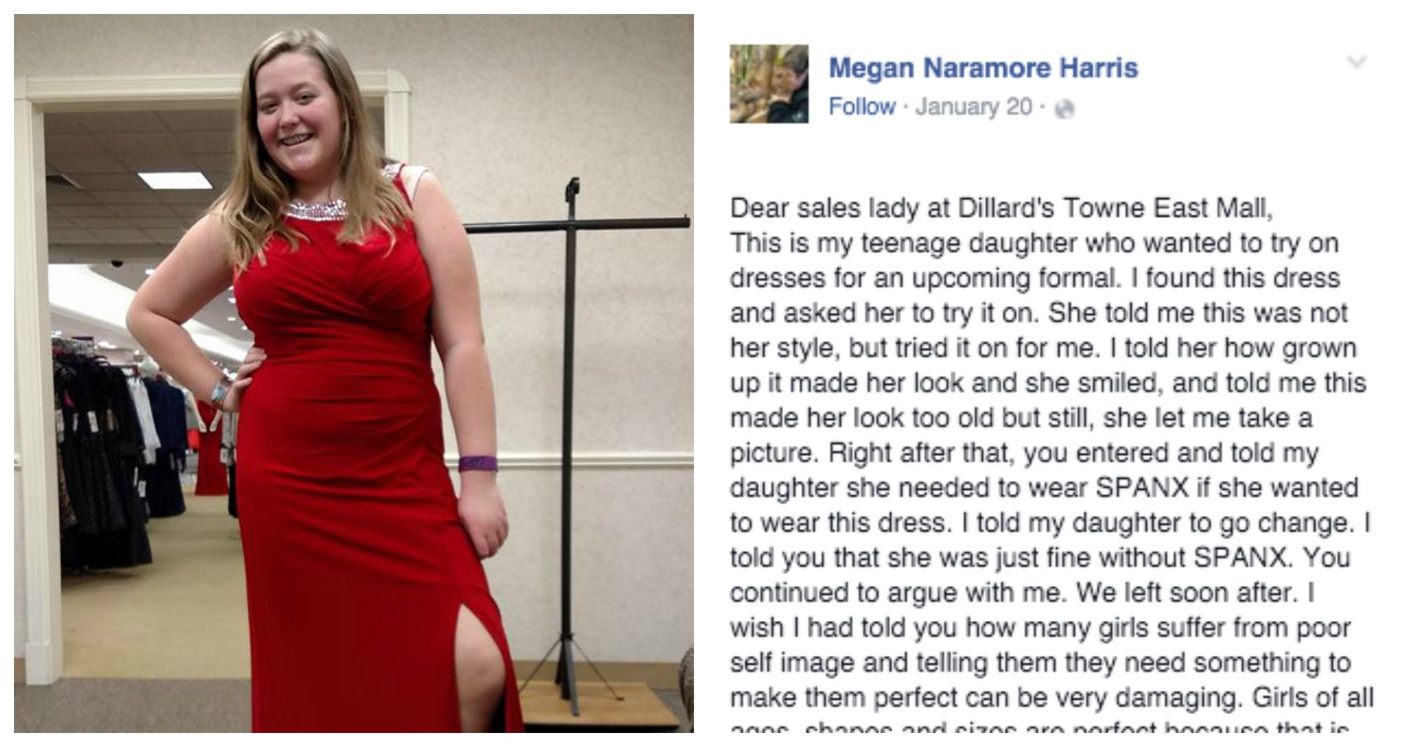 Mom Writes Epic Response To Saleswoman Who Body-Shamed Her Daughter