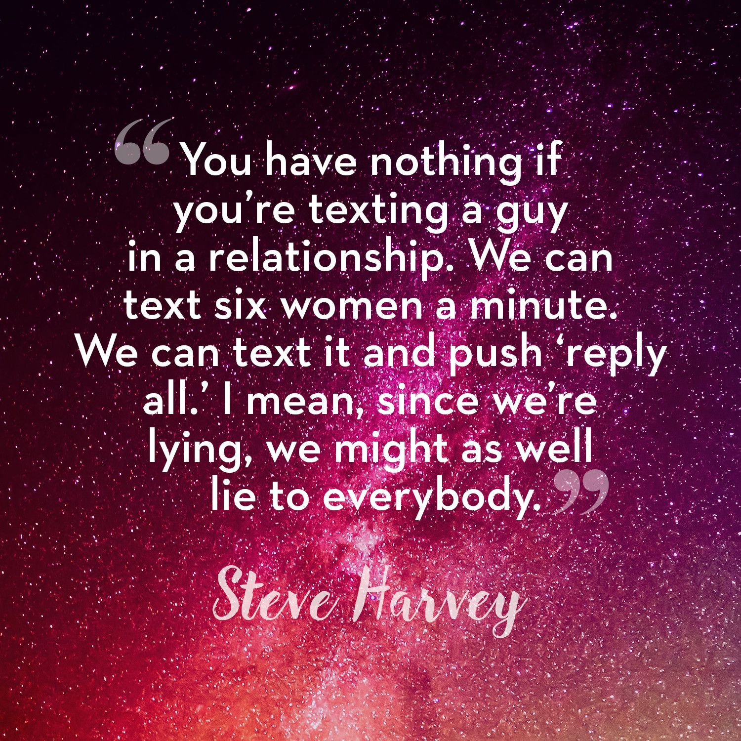 Steve harvey relationship advice for men