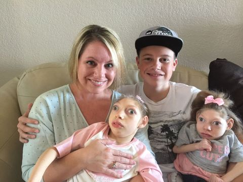 Gwen Hartley and her son, Cal, her daughter, Claire, and her daughter, Lola.