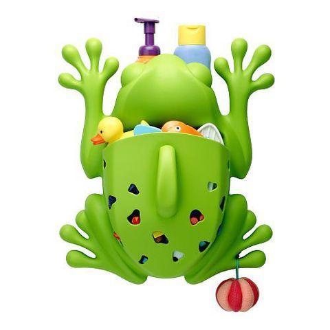 boon frog pod bath toy scoop green