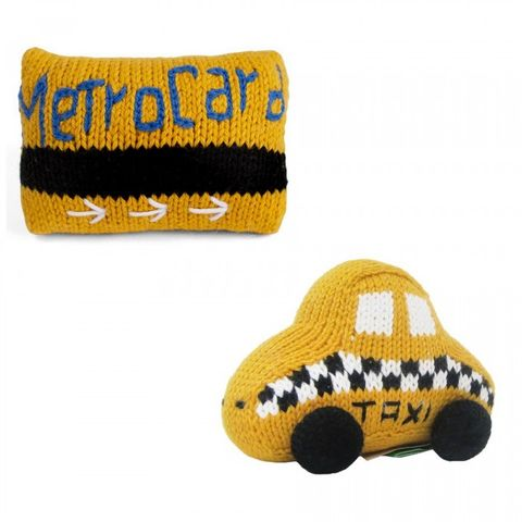 Estella Organic Taxi & Metrocard Rattles