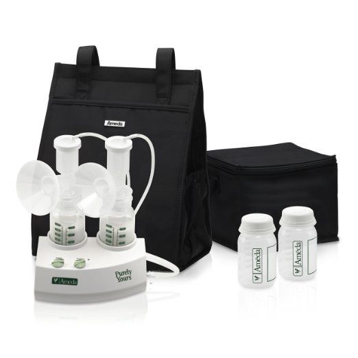 ameda purely yours carryall double electric breast pump