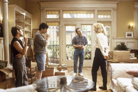 Lighting, Interior design, Room, Jeans, Furniture, Floor, Interior design, Home, Living room, Conversation,