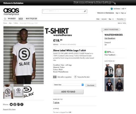 ASOS slave t-shirt