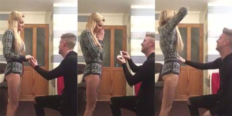 Engagement prank