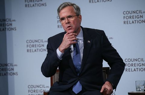 Republican presidential hopeful Jeb Bush speaks at the Council on Foreign Relations (CFR) on January 19, 2016 in New York, United States.