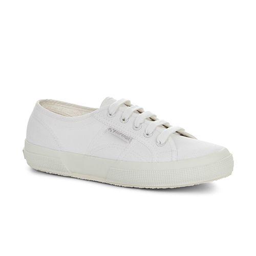 superga 2750 cot classic sneaker in all white