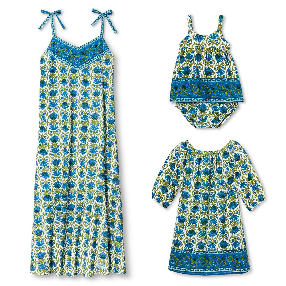target happy by pink chicken blue printed dresses