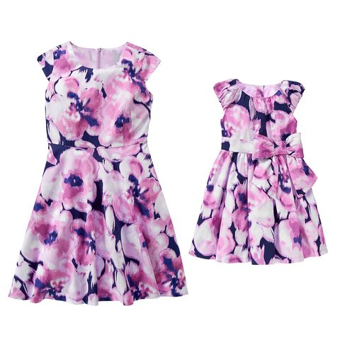 gymboree purple floral mom and girl dresses