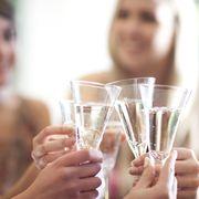 Finger, Glass, Eyebrow, Drinkware, Beauty, Nail, Transparent material, Drinking, Barware, Blond,
